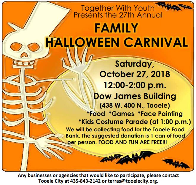 Family Halloween Carnival 2018 @ Dow James | Tooele | Utah | United States
