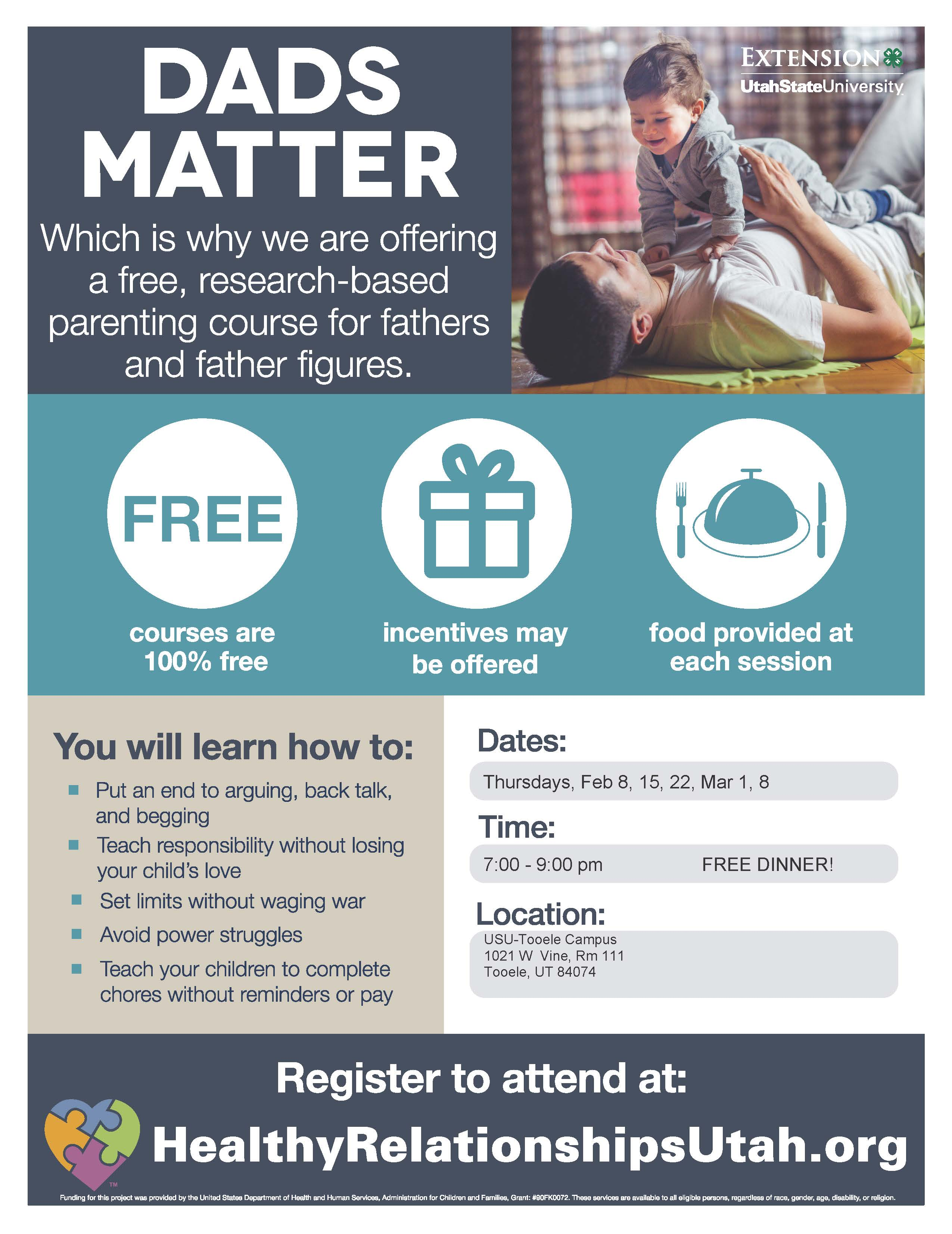 Fathering with Love and Logic because DADS MATTER @ USU - Tooele, Room 111 | Tooele | Utah | United States
