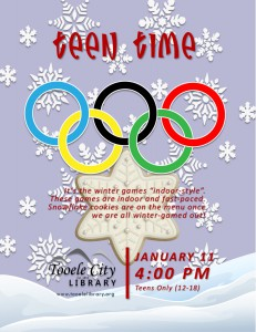 Teen Time: Winter Games @ Tooele City Library | Tooele | Utah | United States