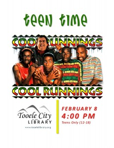 Teen Time: Cool Runnings @ Tooele City Library | Tooele | Utah | United States