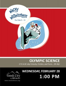 Wacky Wednesday: Olympic Science @ Tooele City Library | Tooele | Utah | United States