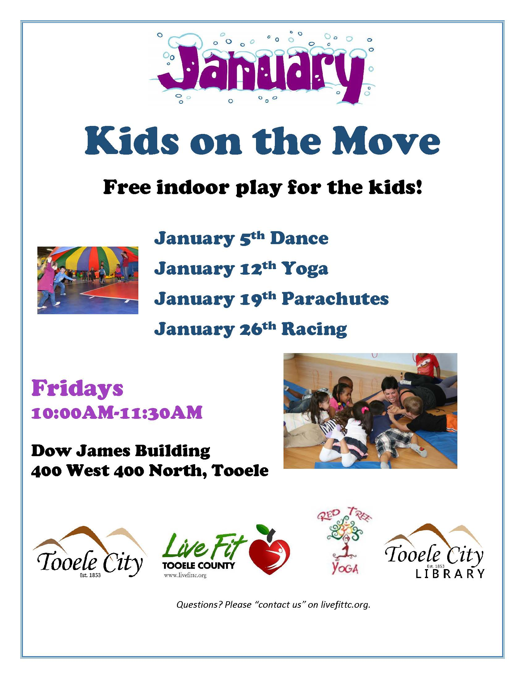 Kids on the Move! Dance @ Dow James Building | Tooele | Utah | United States