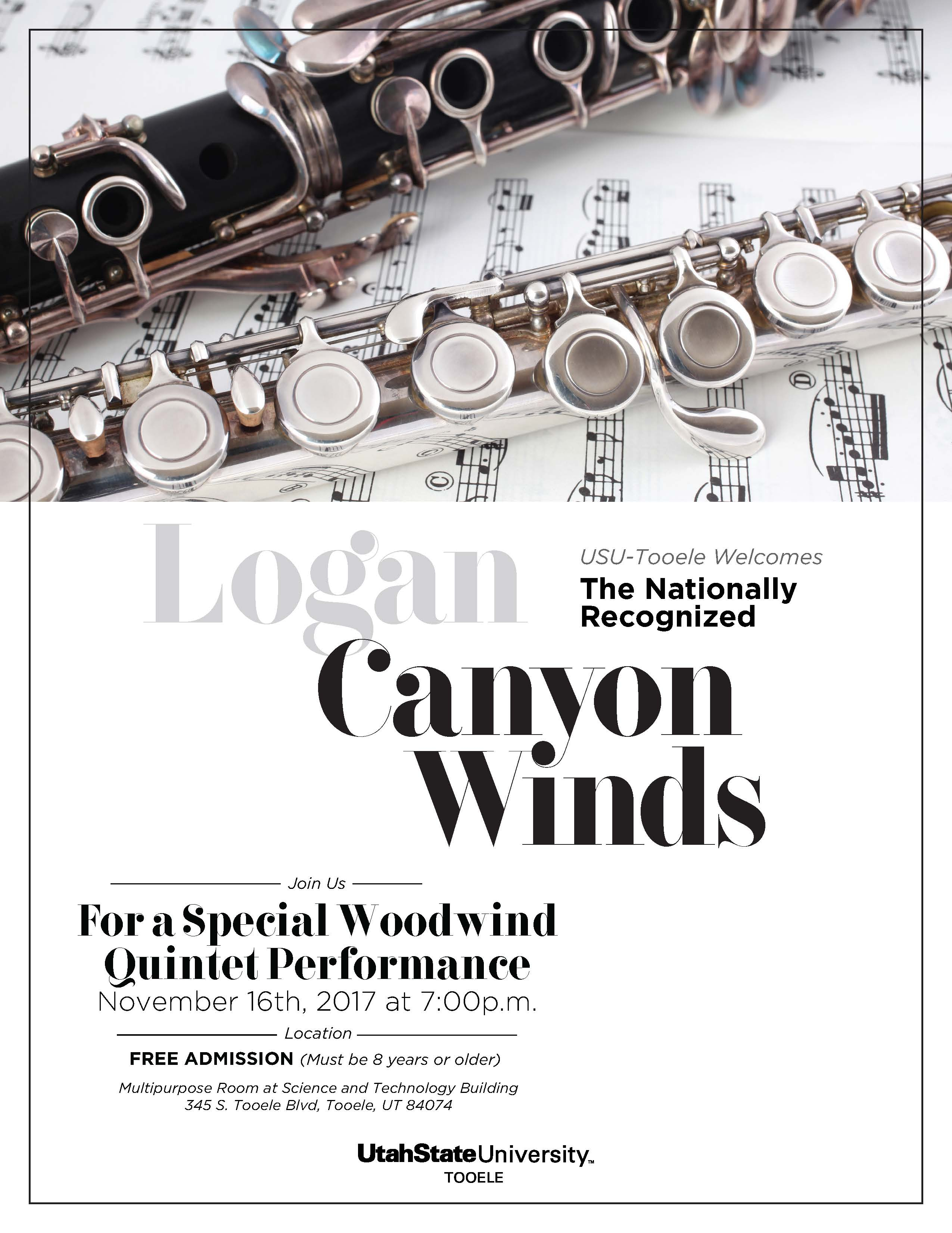 Logan Canyon Winds Performance @ USU-Tooele Science and Technology Building Multipurpose Room | Tooele | Utah | United States