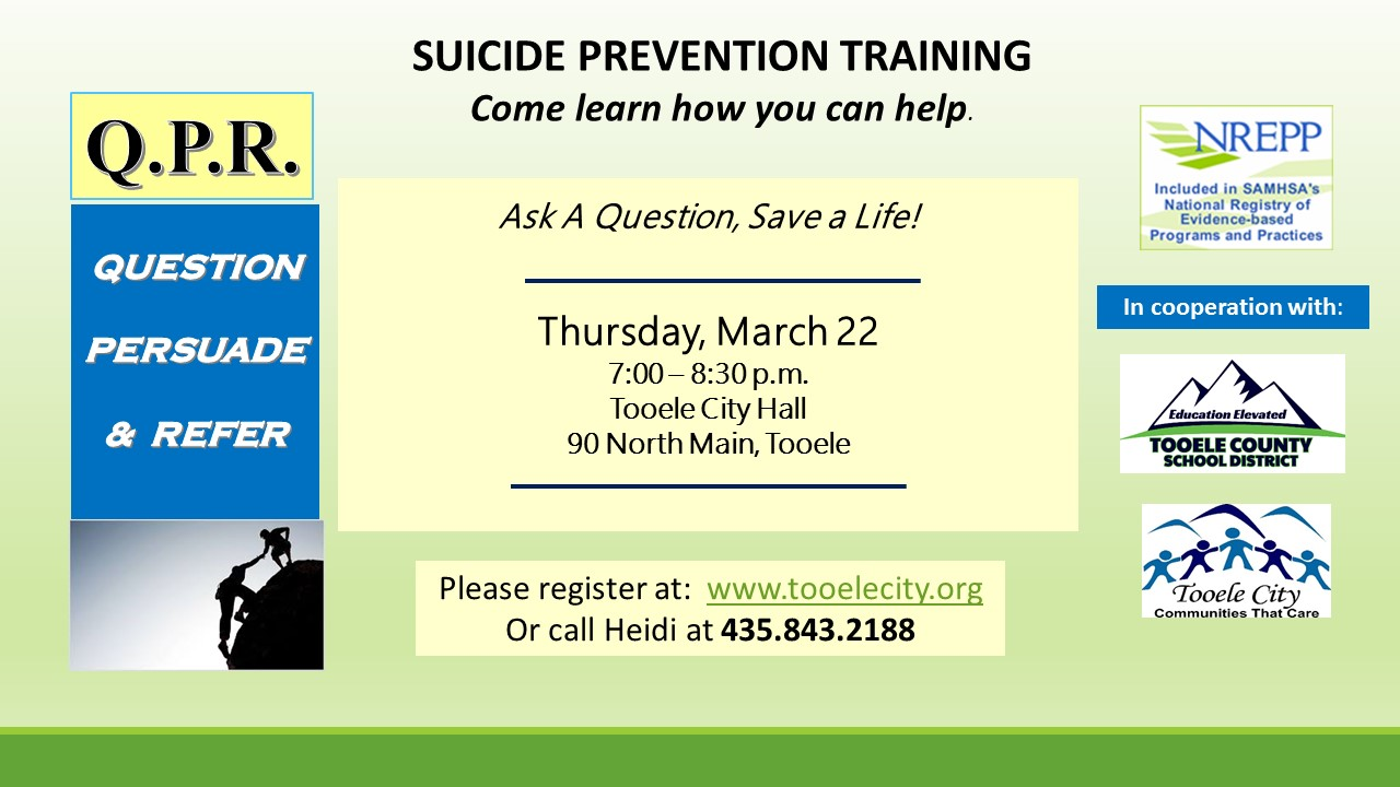 QPR Suicide Prevention Training March 2018