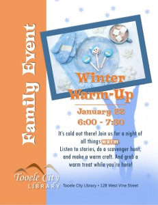 Family Event: Winter Warm-Up @ Tooele City Library | Tooele | Utah | United States