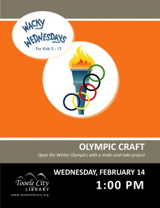 Wacky Wednesday: Olympic Craft @ Tooele City Library | Tooele | Utah | United States