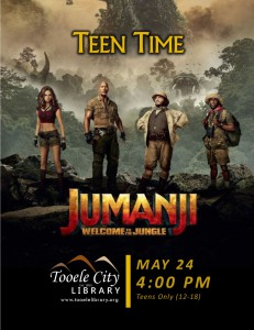 Teen Time: Jumanji Movie @ Tooele City Library | Tooele | Utah | United States