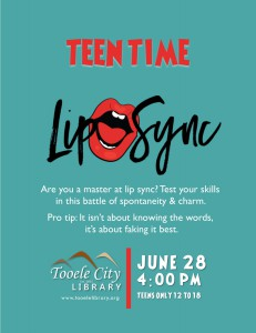 Teen Time: Lip Sync @ Tooele City Library | Tooele | Utah | United States