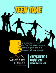 Teen Time: Police Dept Challenge @ Tooele City Library | Tooele | Utah | United States