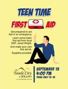 Teen Time: Emergency First Aid @ Tooele City Library | Tooele | Utah | United States