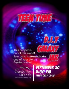 Teen Time: DIY Galaxy Jar @ Tooele City Library | Tooele | Utah | United States