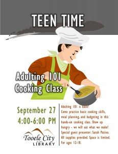 Teen Time: Cooking Class (Adulting 101) @ Tooele City Library | Tooele | Utah | United States
