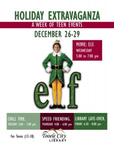 Teen Movie: Elf @ Tooele City Library | Tooele | Utah | United States