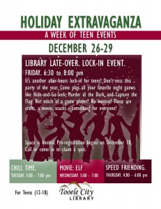 Library Late-Over: Teen Lock-In @ Tooele City Library | Tooele | Utah | United States