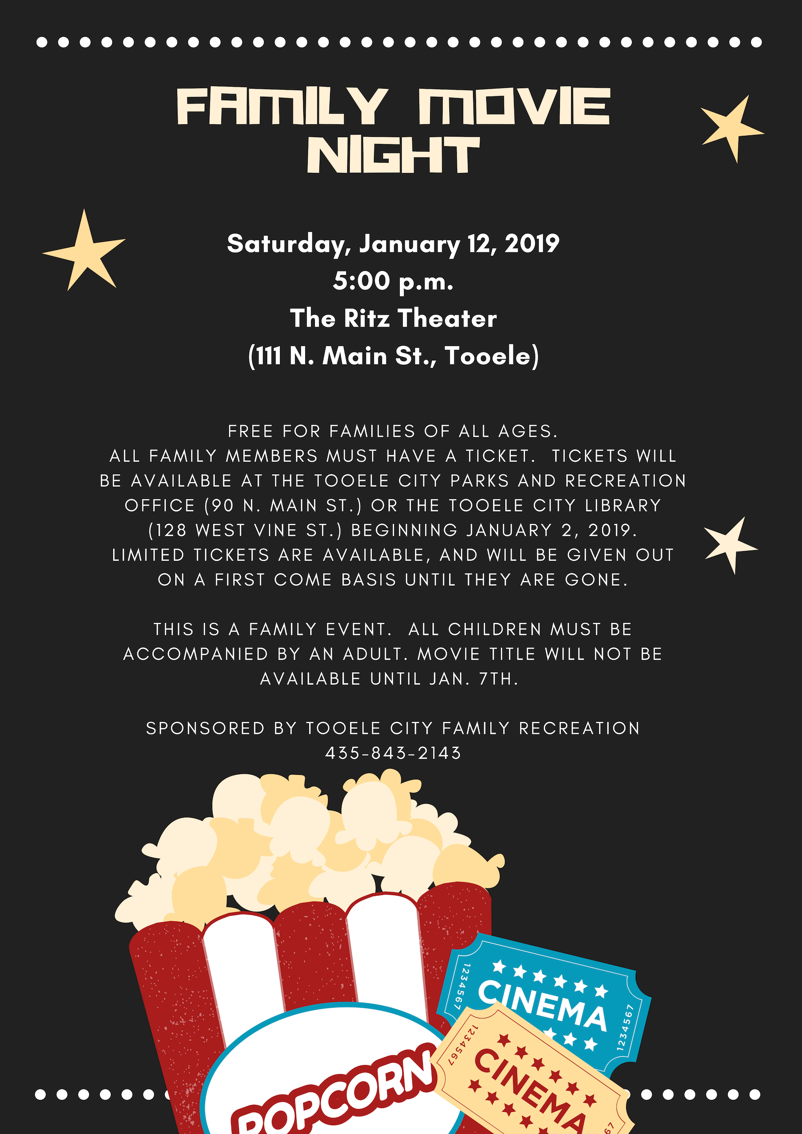 Movie Tickets available for FREE Family Movie Night