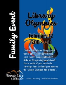 Family Event: Library Olympics @ Tooele City Library | Tooele | Utah | United States