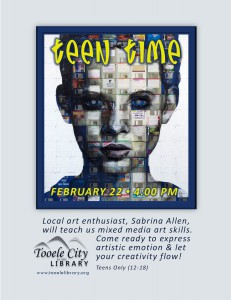 Teen Time: Mixed Media Art @ Tooele City Library | Tooele | Utah | United States