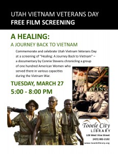 Healing: A Journey Back to Vietnam (Film Screening) @ Tooele City Library | Tooele | Utah | United States