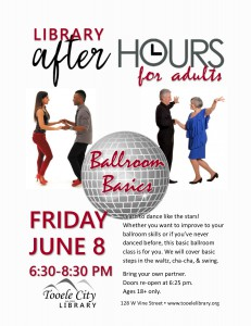 Ballroom Basics. After-Hours for Adults. @ Tooele City Library | Tooele | Utah | United States