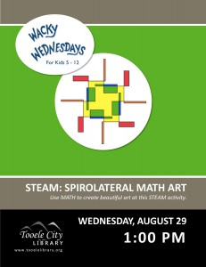 Wacky Wednesday: Spirolaterals (STEAM Day) @ Tooele City Library | Tooele | Utah | United States