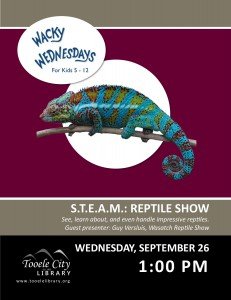 Wacky Wednesday: Reptile Show @ Tooele City Library | Tooele | Utah | United States