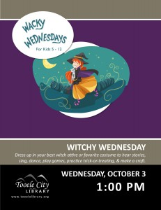 Witchy Wednesday. Wacky Wednesday @ Tooele City Library | Tooele | Utah | United States