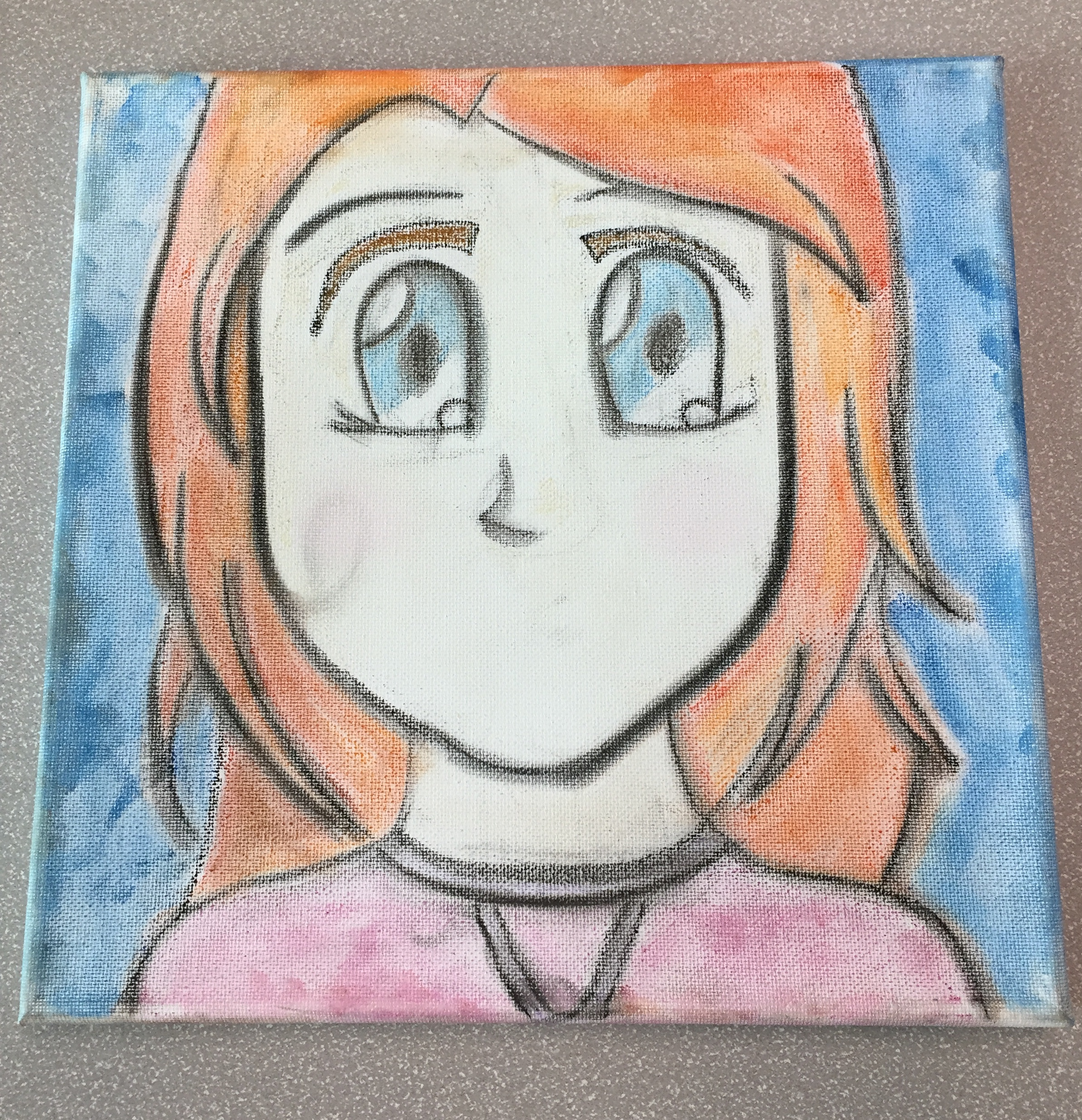 Bubble Gum Pastel Portrait