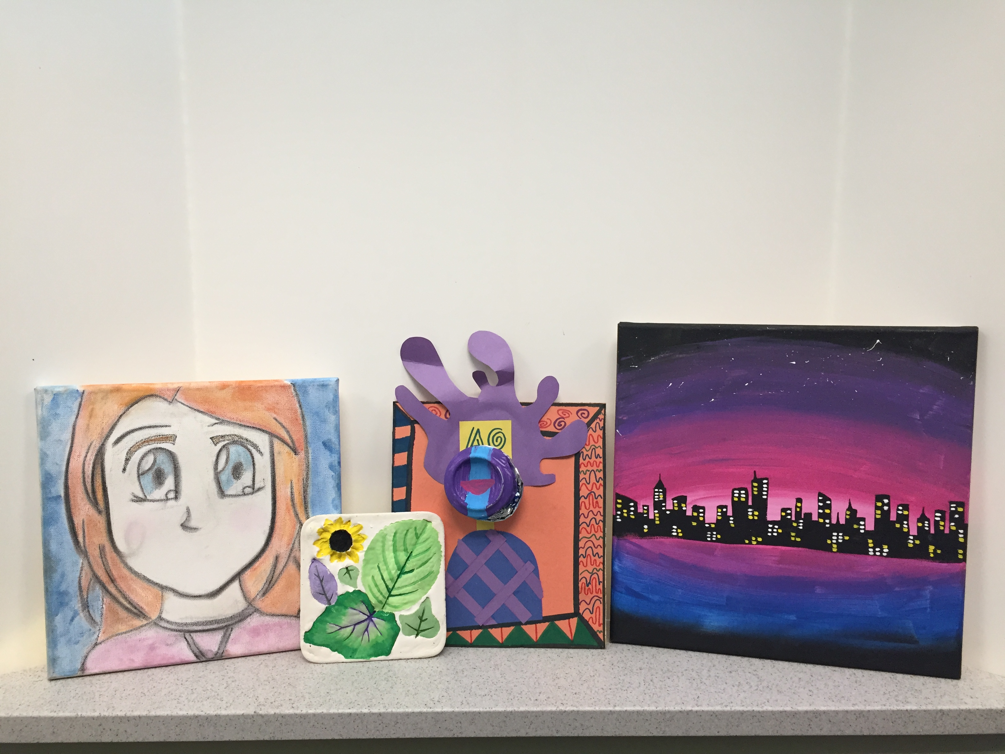 Children's Fine Art Club January - April 2019 Project Display
