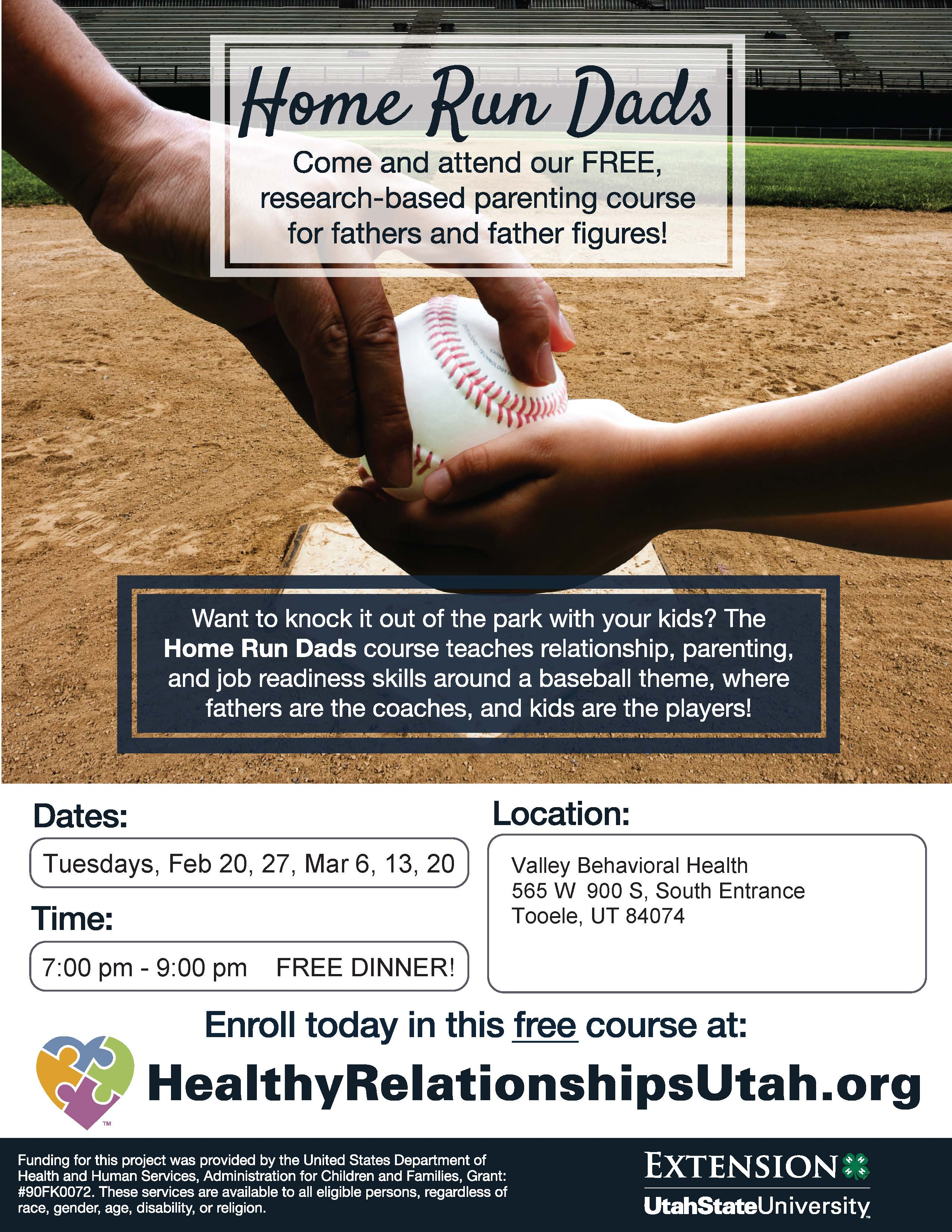 Home Run Dads - a FREE Course! @ Valley Behavioral Health (South Entrance) | Tooele | Utah | United States
