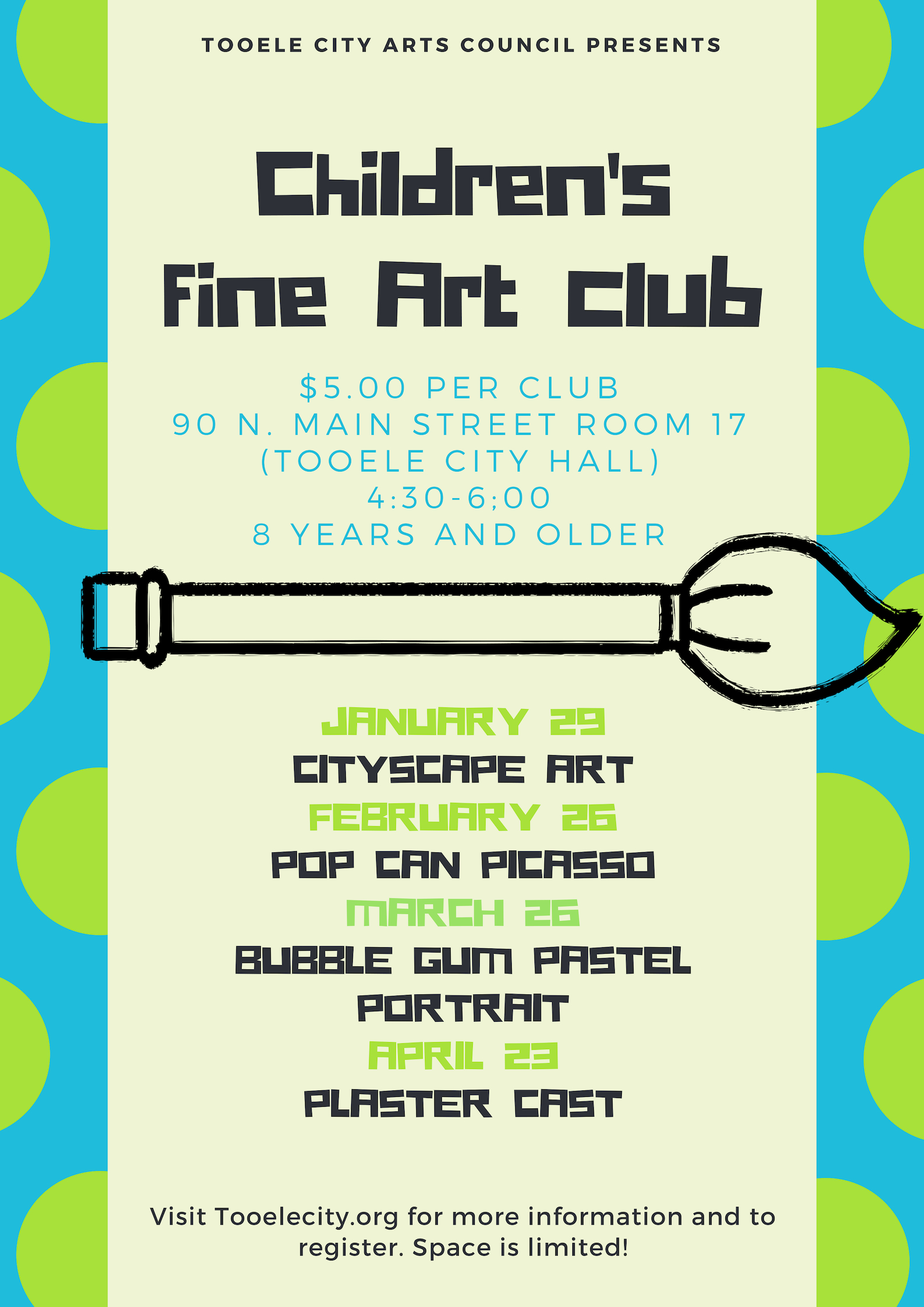 Children's Fine Art Club: Plaster Cast @ Tooele City Hall | Tooele | Utah | United States