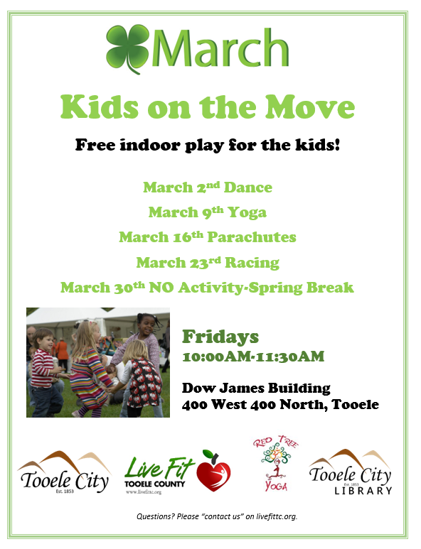 Kids on the Move! Parachutes @ Dow James Building | Tooele | Utah | United States