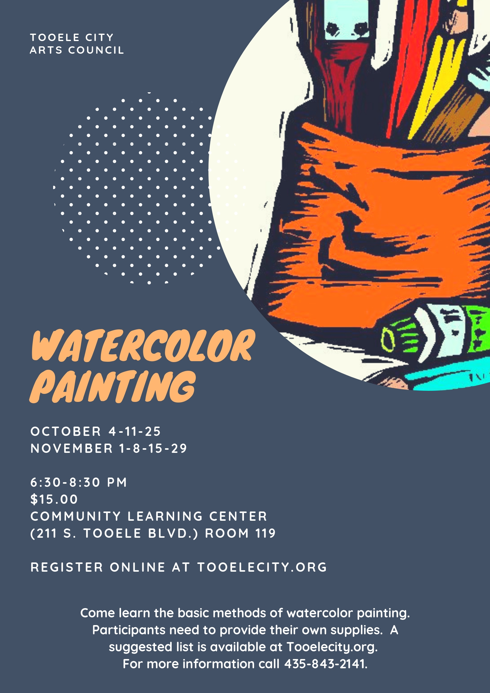 Watercolor Painting 2018 @ Community Learning Center Room #119 | Tooele | Utah | United States