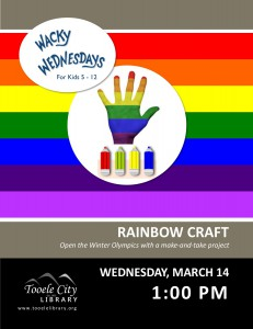 Wacky Wednesday: Rainbow Craft @ Tooele City Library | Tooele | Utah | United States