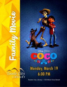 Family Movie Night: Coco @ Tooele City Library | Tooele | Utah | United States