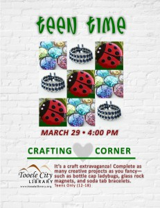 Teen Time: Crafting Corner @ Tooele City Library | Tooele | Utah | United States