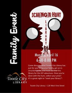 Family Event: Library Scavenger Hunt @ Tooele City Library | Tooele | Utah | United States