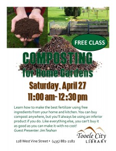 Free Class: Composting for Home Gardens @ Tooele City Library | Tooele | Utah | United States