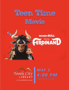 Teen Time: Ferdinand Movie @ Tooele City Library | Tooele | Utah | United States