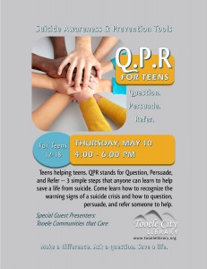 Teen Time: QPR Suicide Awareness & Prevention @ Tooele City Library | Tooele | Utah | United States