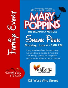 Family Event: Mary Poppins Sneak Peek @ Tooele City Library | Tooele | Utah | United States