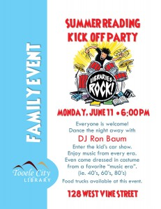 Family Event: Summer Reading Kick Off Party @ Tooele City Library | Tooele | Utah | United States