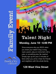 Family Event: Talent Night @ Tooele City Library | Tooele | Utah | United States