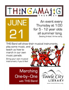 Thing-A-Ma-Jig Thursday: Marching One-by-One @ Tooele City Library | Tooele | Utah | United States