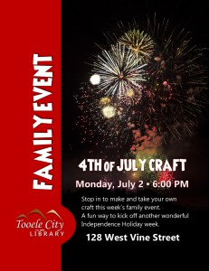 Family Event: 4th of July Craft @ Tooele City Library | Tooele | Utah | United States
