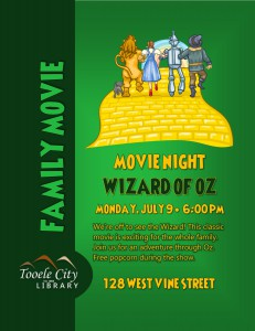 Family Event: Wizard of Oz Movie @ Tooele City Library | Tooele | Utah | United States