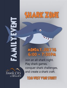 Family Event: Shark Zone @ Tooele City Library | Tooele | Utah | United States