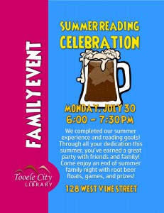 Family Event: Summer Reading Celebration @ Tooele City Library | Tooele | Utah | United States