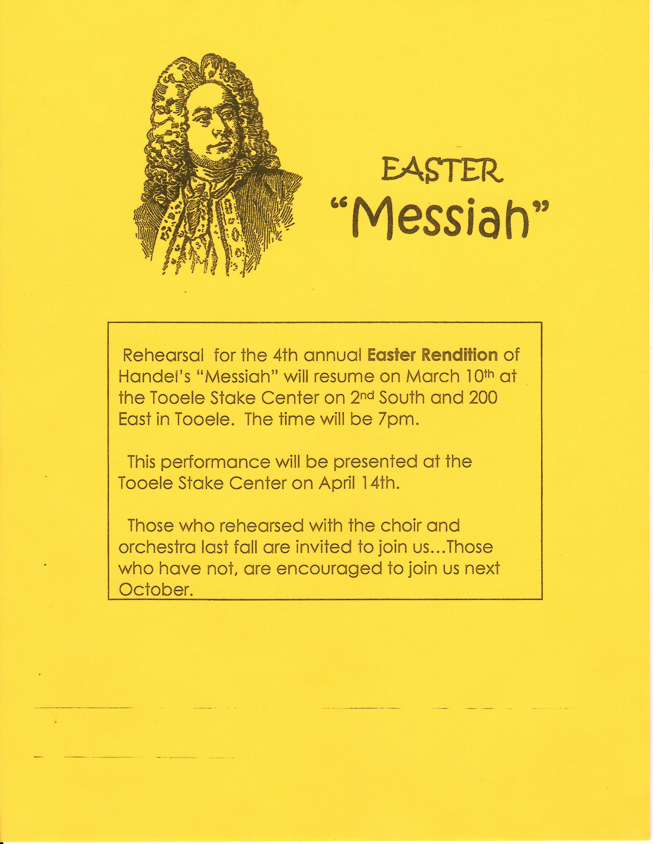 Easter Messiah 2019