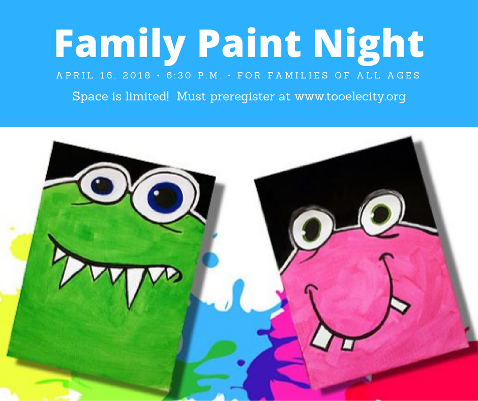 Family Paint Night April 16, 2018