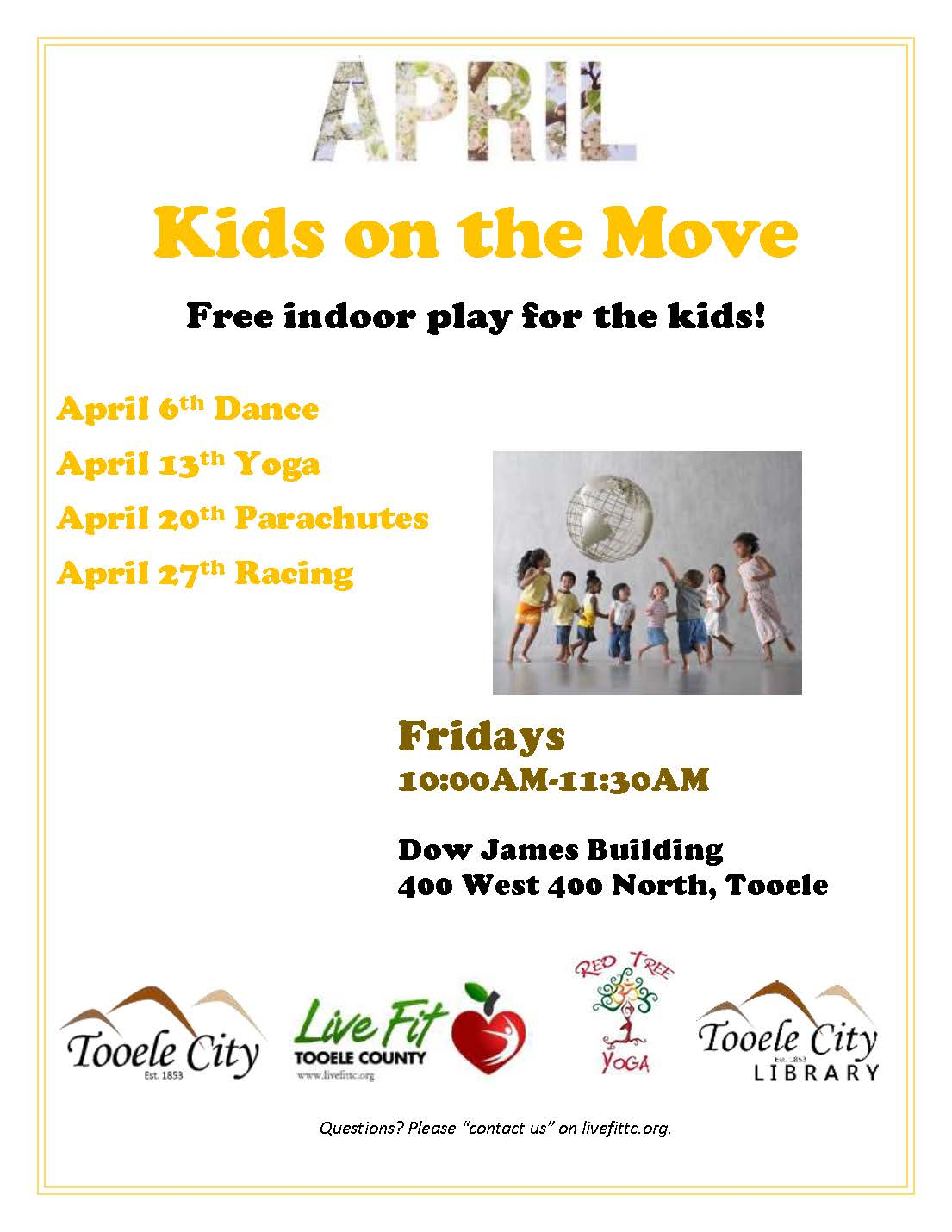 Kids on the Move! Racing @ Dow James Building | Tooele | Utah | United States